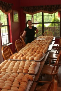 The amazing Tracy and her rolls!